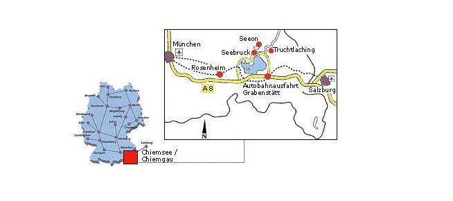 Anfahrtsskizze, © Tourist-Information Seebruck