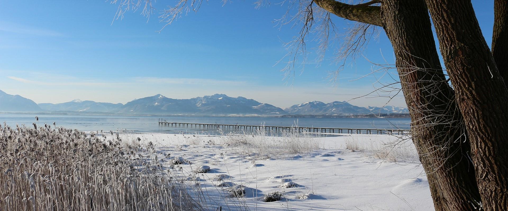 Wintersonne in Seebruck, © Christel Hacker